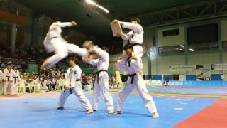 Jeonju University Taekwondo Demonstration Team performance at Jeonju Open (전주대학교 태권도 시범단 공연)
