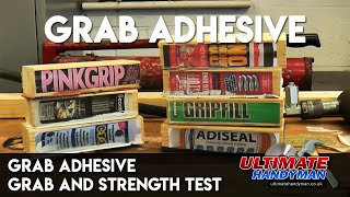 Grab adhesive - grab and strength test