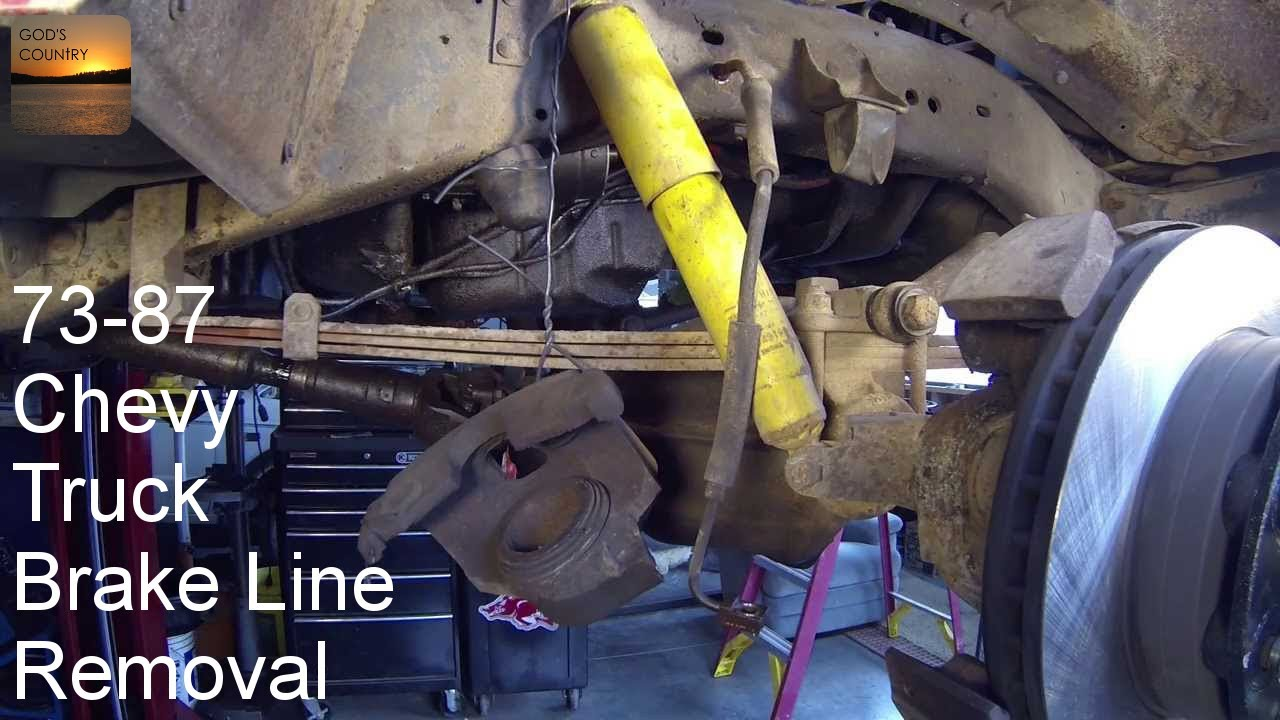 1973 1987 chevy truck how to remove front brake hoses and a look at ord s extended lines youtube [ 1280 x 720 Pixel ]