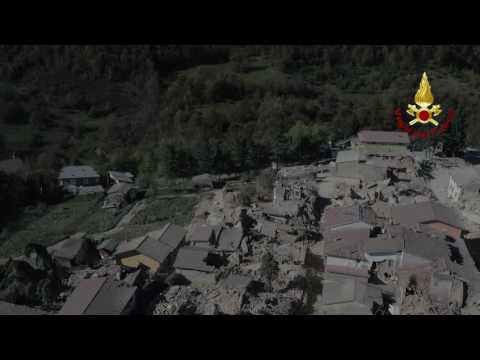Drone Video Reveals Destruction After New Italy Earthquake