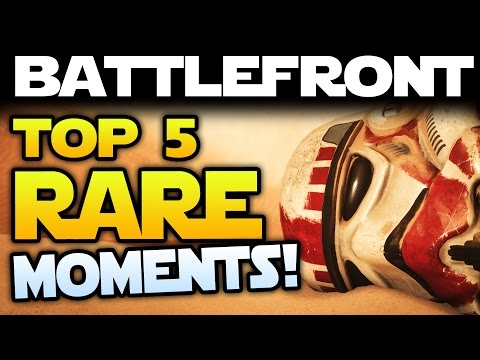 Star Wars Battlefront: Top 5 RAREST MOMENTS EVER! Insane Kills & Plays! Snowspeeder Surfing & More!