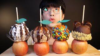 [SUB] 초콜렛으로 코팅한 사과 디저트, APPLE+…