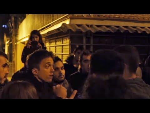Escrache a Iñigo Errejón: ¡¡Sois Unos Traidores!!