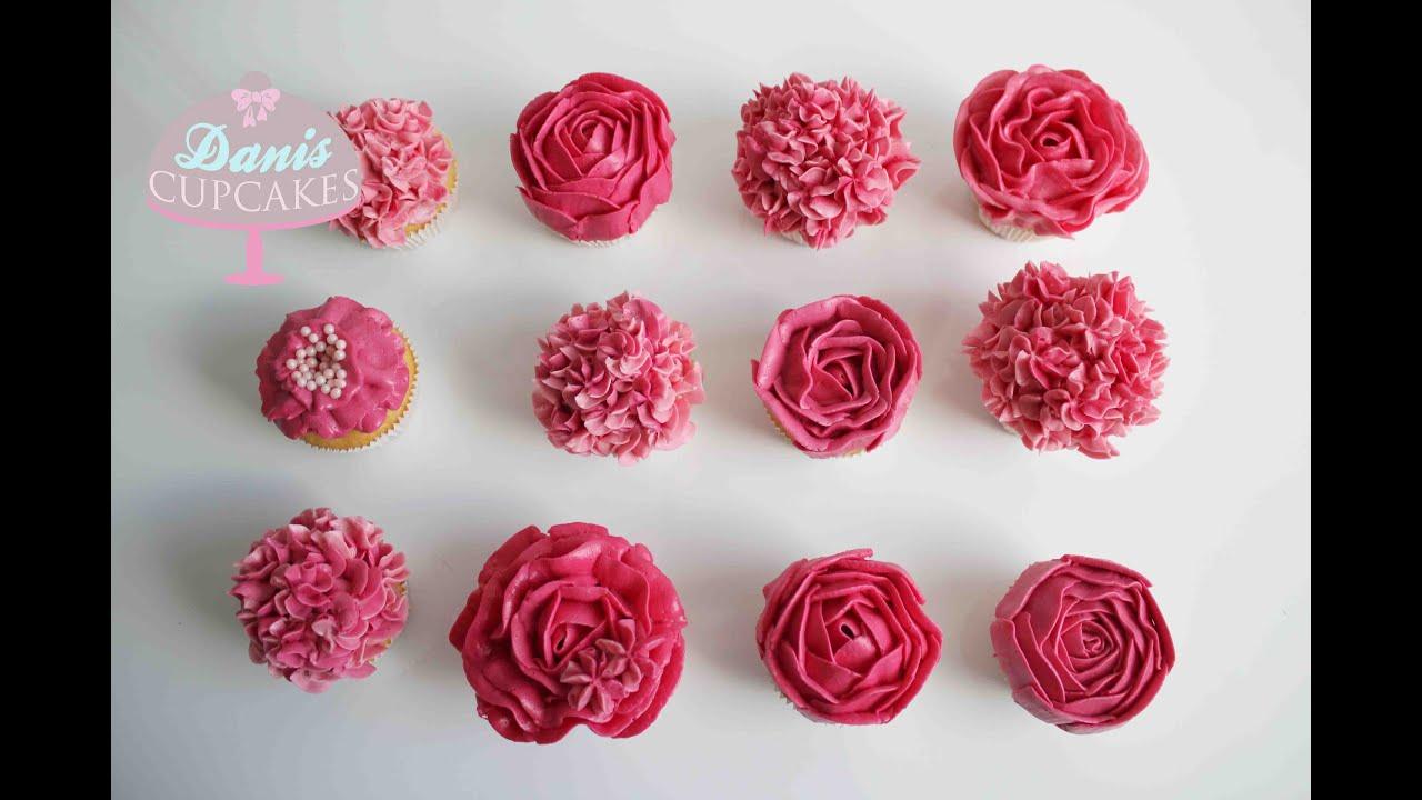 buttercreme rosen hortensien cupcakes muttertag special. Black Bedroom Furniture Sets. Home Design Ideas