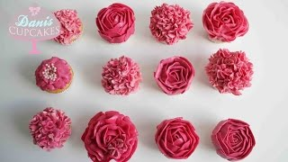 Buttercreme Rosen Hortensien Cupcakes Muttertag Special |Danis Cupcakes