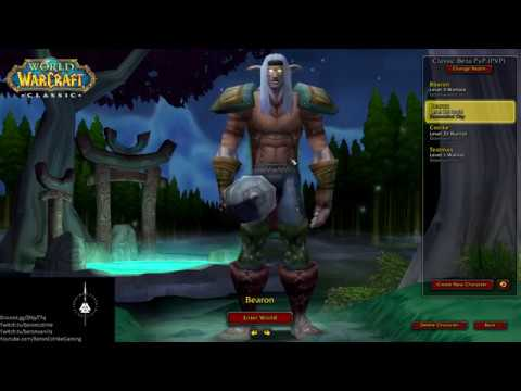WoW #140 - Classic WoW Beta - lvl 36 Druid - Scarlet Monastery Library /  Armory / Cathedral / STV