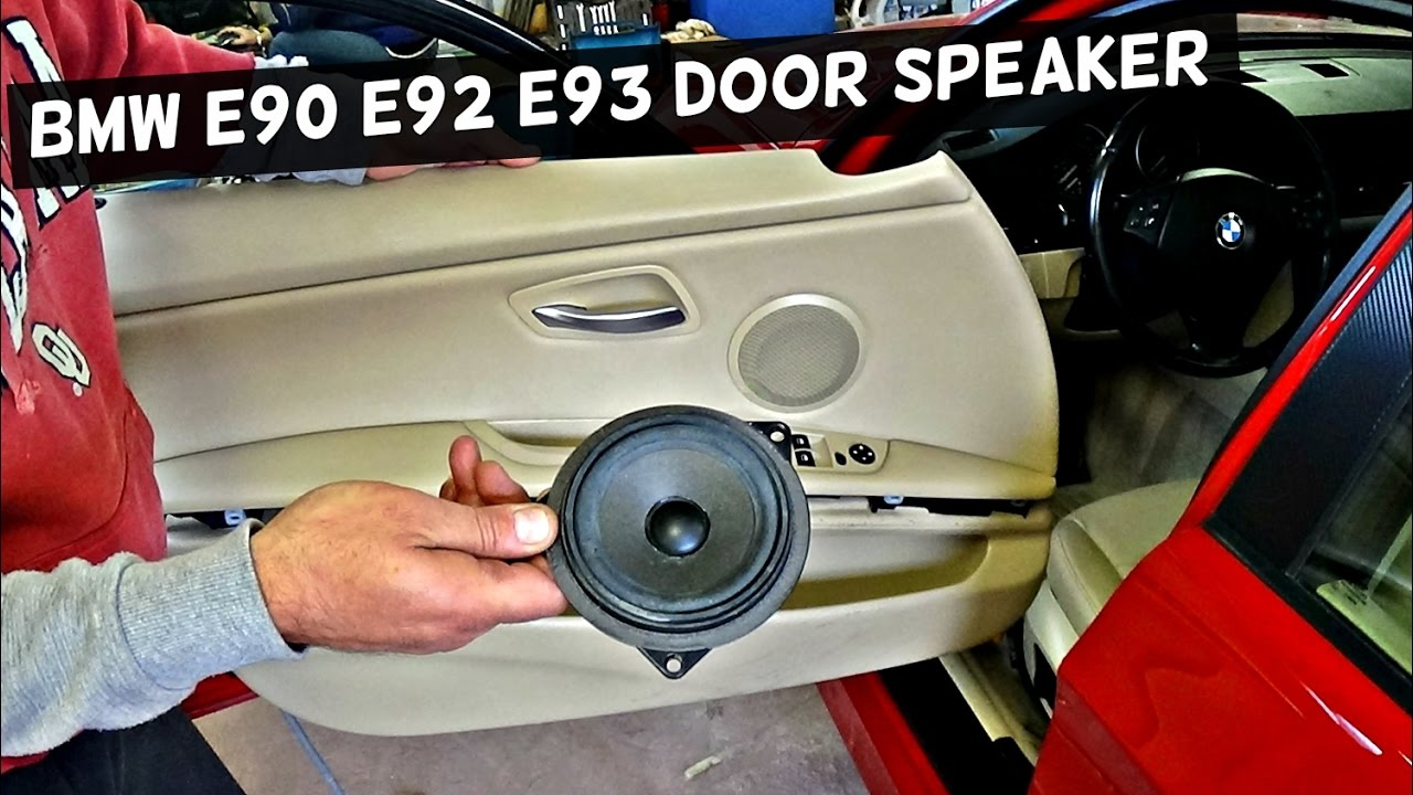 Bmw Front Door Speaker Replacement E90 E91 E92 E93 2007 2008 2009