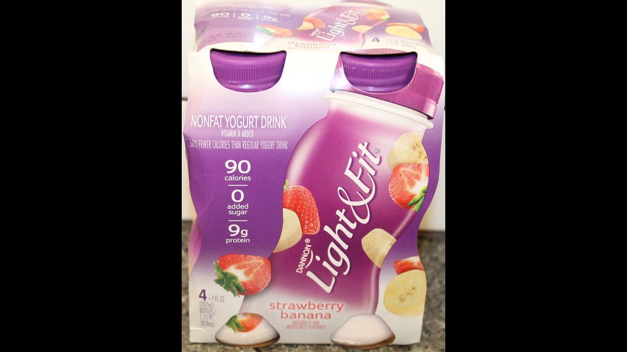 Dannon Light Amp Fit Strawberry Banana Non Fat Yogurt Drink