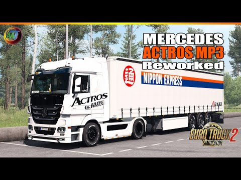 ETS2 MODS - Mercedes ACTROS MP3 Reworked V3.2 By Schumi - ETS2 1.37