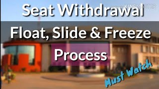Seat Withdrawal, Float, Slide and Freeze Process
