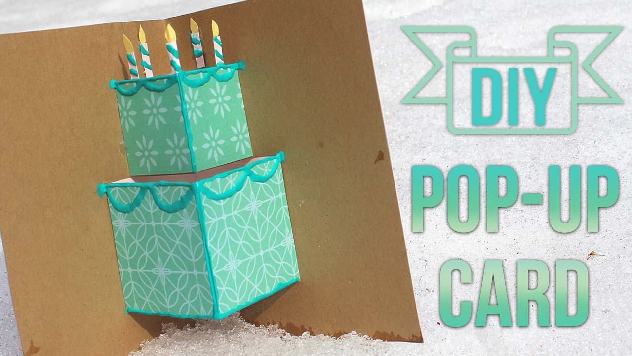 How To Make A Simple PopUp Birthday Card YouTube – Make a Pop Up Birthday Card