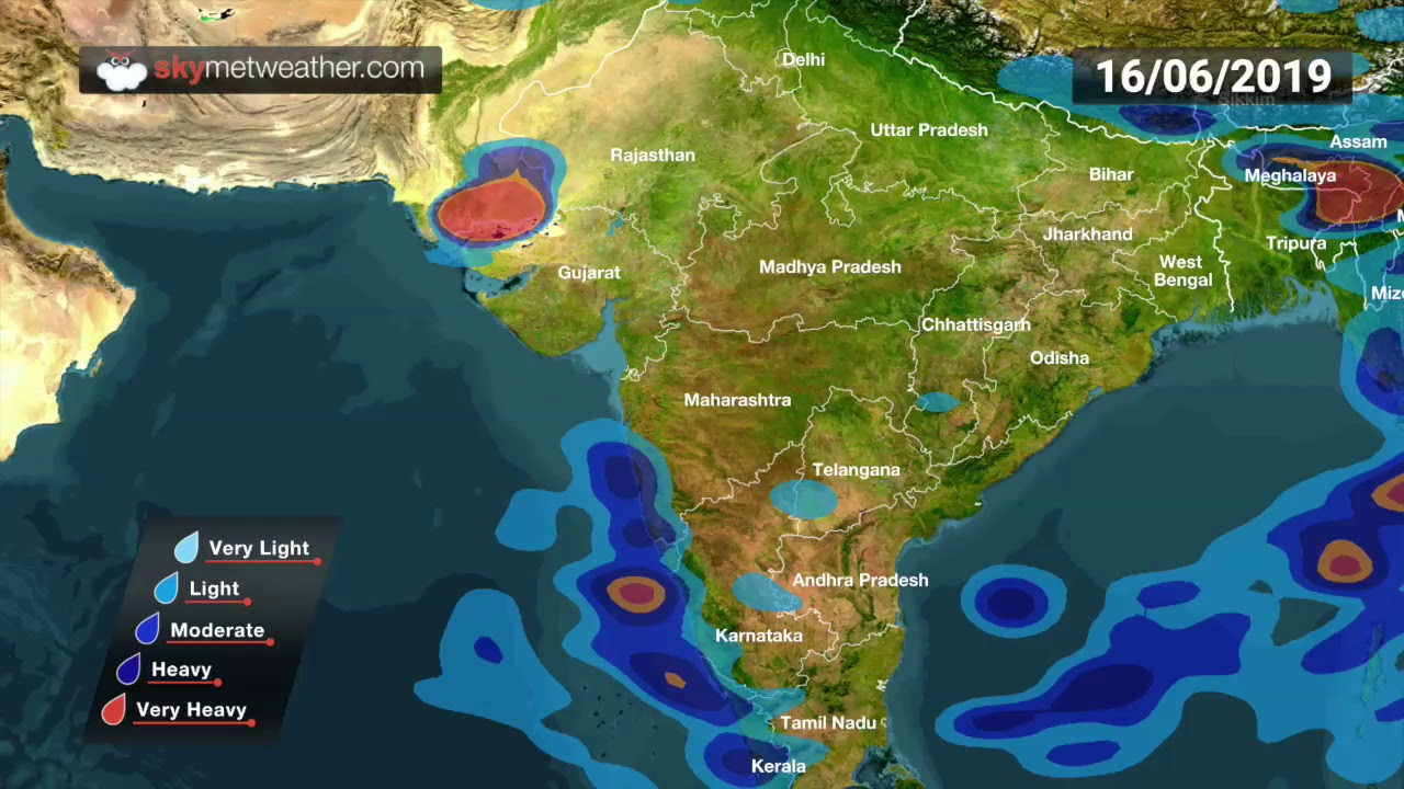 Cyclone Vayu: Rainfall forecast for India for next 6 days | Skymet Weather