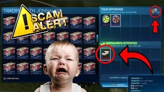 *EXPOSED* SCAMMER GETS MAD AND LEAVES WHEN I EXPOSE HIM!! ROCKET LEAGUE SCAMMER!!