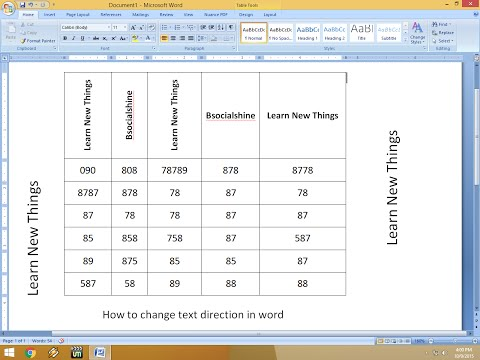 How To Change Text Direction In Table & Text In MS Word