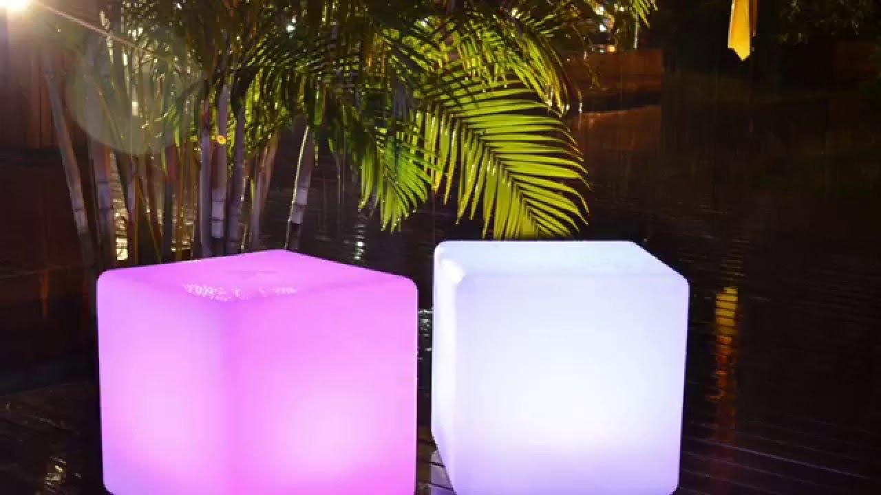 LED Mood Cube, LED Cube Chair, PE Cubes