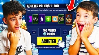 "I OFFER ALL THE COMBAT PASS ""SAISON 7"" TO MY SMALL FREE ON FORTNITE! THEY ARE SHOCKED... 😱"