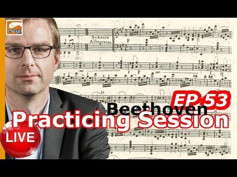 Beethoven Piano Sonata n°2, Scherzo (Practicing Session Ep. 53)