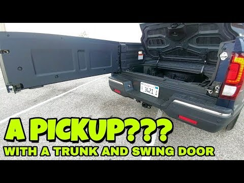 Pickup with a secret trunk under the bed? 2018 Honda Ridgeline!