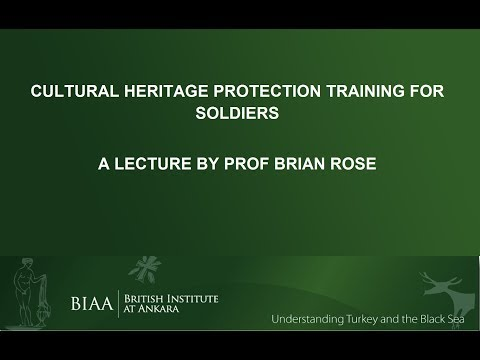 Brian Rose: Cultural Heritage Protection Training for Soldiers