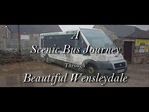 A silent cab ride through Wensleydale in 4k