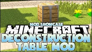 Minecraft Mod - Deconstruction Table Mod