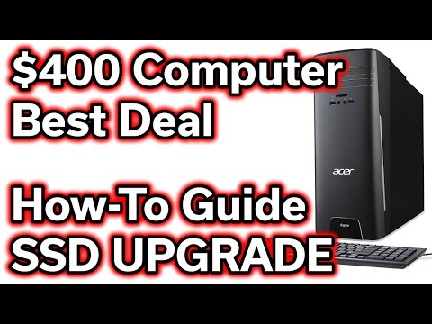 $400 Desktop Computer - SSD Upgrade - How To Install