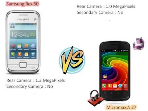 Samsung rex 60 vs micromax A27