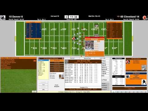 Denver Broncos 2015 vs Cleveland Browns 1965 NFL Challenge League 3rd QRT