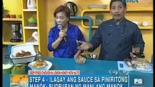 Kitchen Hirit Recipe: Deep-fried Chicken In Lemon Honey With Nuts Unang Hirit