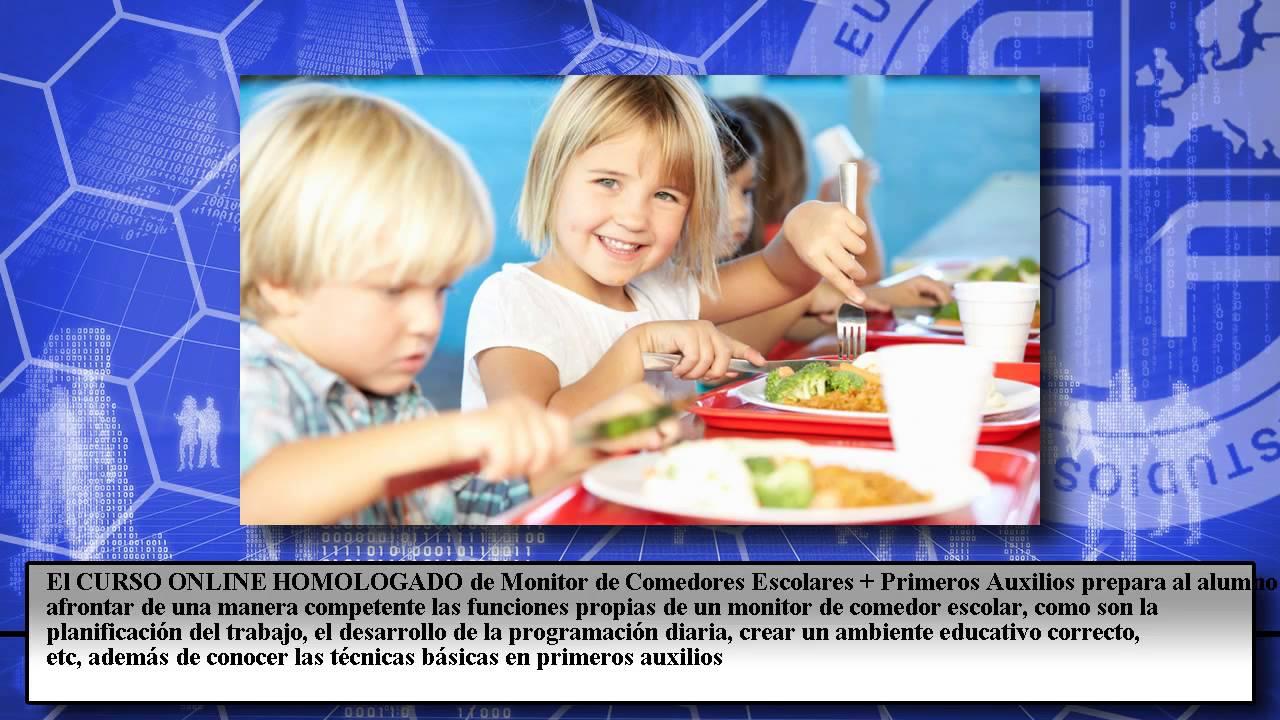 Monitor Comedores Escolares Primeros Auxilios - Cursos Online - YouTube