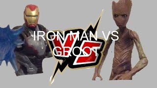 Iron man vs teen groot (endgame iron man and infinity war groot) toy animation