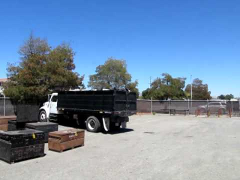 F550 Towing Capacity >> 1995 Ford F750 dump truck with scissor lift bed for sal ...