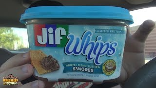 Carbs - Jif Whips Whipped Peanut Butter & S'mores Spread
