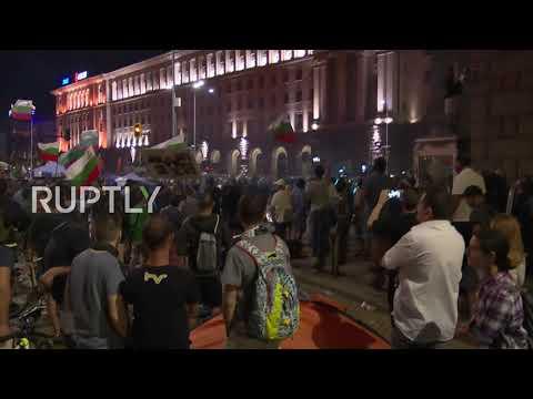 Bulgaria: Protesters scuffle with police amid anti-govt demo