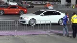 2011 Camaro SS vs 2010 BMW 750LI 1/4 Mile