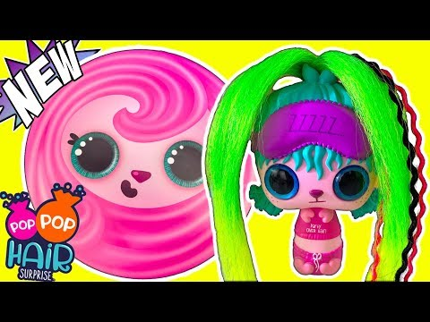 NEW Pop Pop Hair Surprise Doll Blind Bag Toys! - Mix & Match Mystery Hairstyle Pop Pets Toy Review