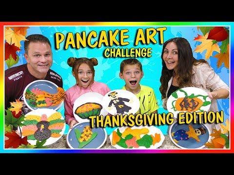 THANKSGIVING PANCAKE ART CHALLENGE | We Are The Davises