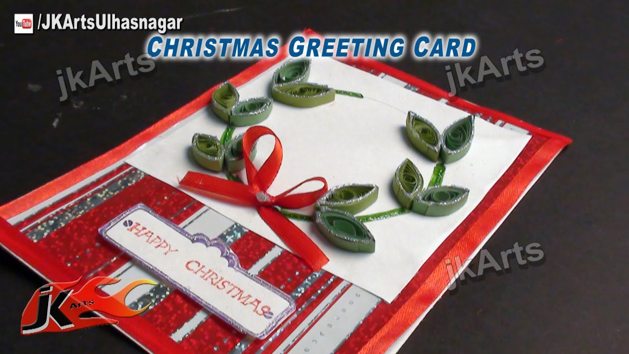 How to make christmas cards diy paper quilling greeting card jk how to make christmas cards diy paper quilling greeting card jk arts 466 youtube kristyandbryce Choice Image