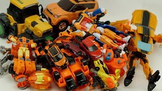 HelloCarbot Robot Transformers Tobot Orange Car Bulldozer, Tractor Trucks #трансформеры Color Toys