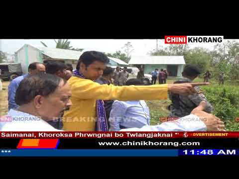 Tripura CM Visit Champabari, Water Source Point of Champa River