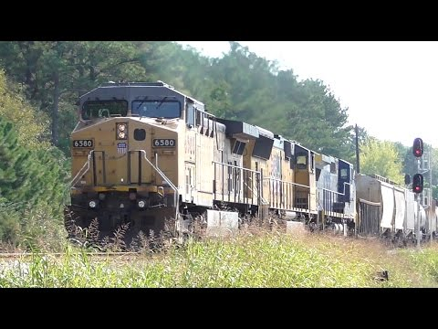 [3l] CSX Main Line Action with 8 Trains, Railfanning Carlton - Winder, GA, 10/03/2016 ©mbmars01