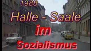 Halle im Sozialismus - trist , grau und marode  1988