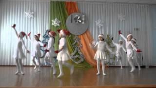 """новогодний танец, 1-й класс,  """"Первая гимназия"""" г.Петропавловск, 2016"""