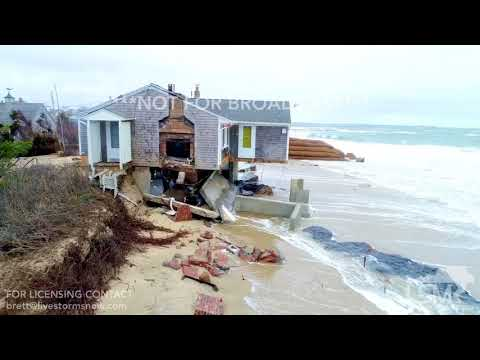 03-04-18 Sandwich, MA -Home On Brink Of Falling Into Ocean Following Nor'easter