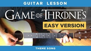 "🎸 ""Game of Thrones"" easy guitar lesson (theme song) - no capo, chords & intro tabs"