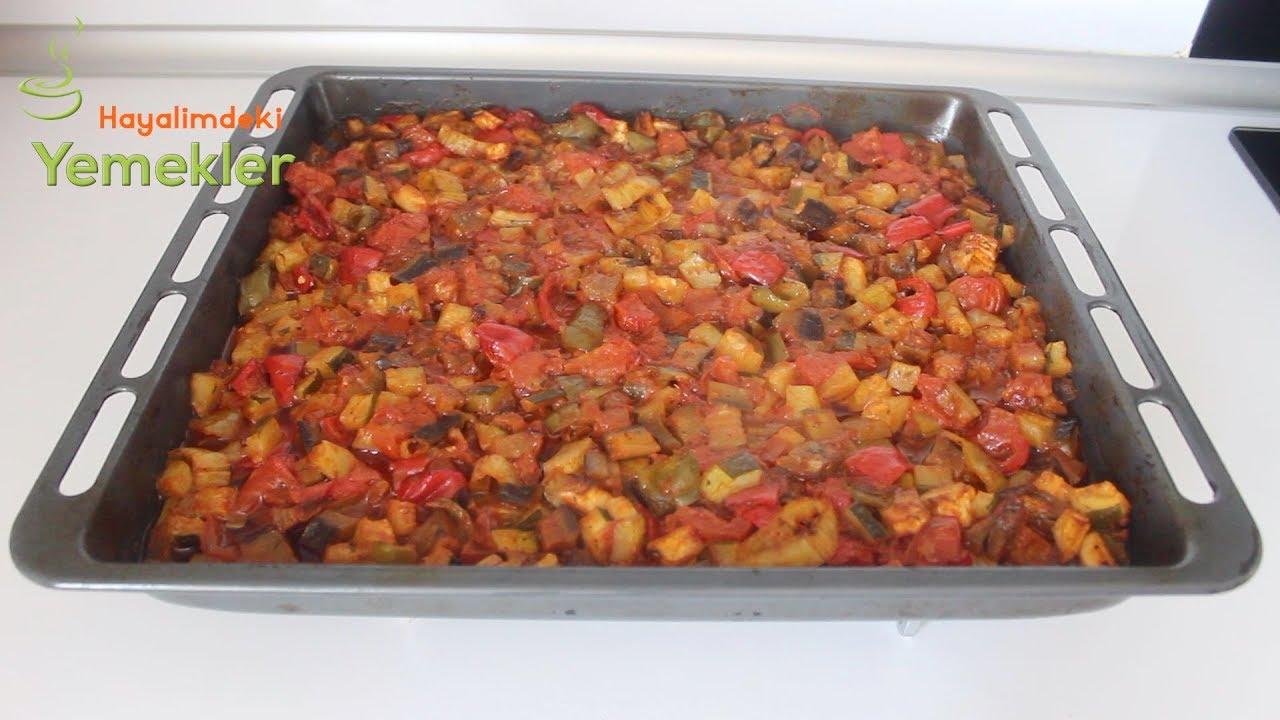 En Kolay Fırın Yemeği / Etsiz Yaz Yemeği Tarifi /Hayalimdeki Yemekler