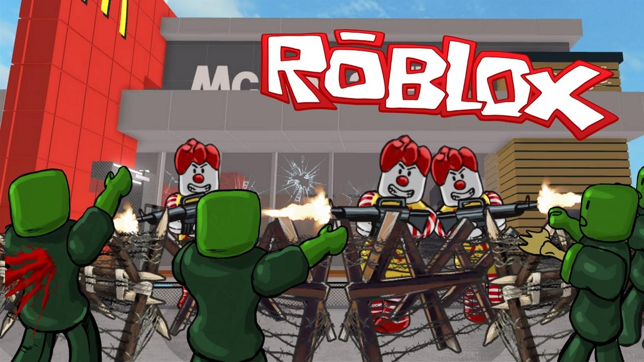 Zombie City Roblox Roblox Zombies Take Over Mcdonalds Mcdonalds Zombie Apocalypse Youtube