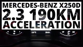Mercedes-Benz X250D 2.3 190 KM (AT) - acceleration 0-100 km/h