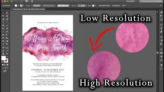 DIY Wedding Invitations | Adobe Illustrator – high resolution watercolour vector | vectorize artwork