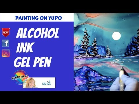 30. Painting with Amazing Alcohol Ink on Yupo - Try Inks so much fun!